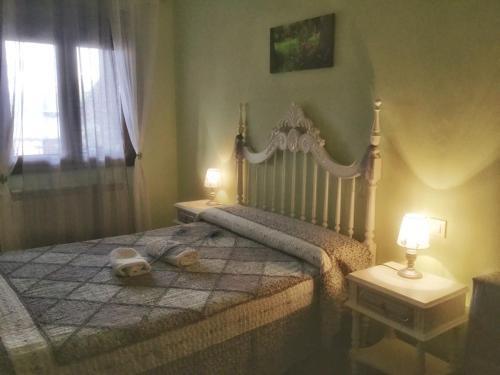 Cama o camas de una habitación en Casa Rural ANIDA