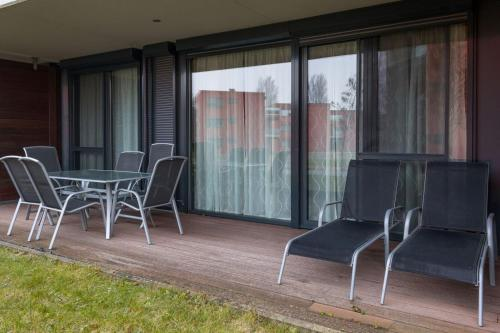 A seating area at BL YachtClub & Apartments