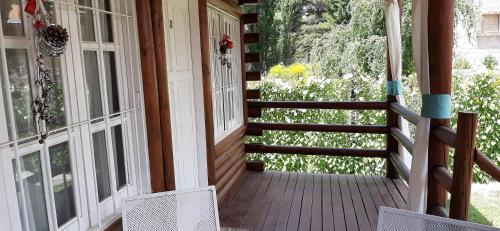 A balcony or terrace at Cabañas Las Golondrinas
