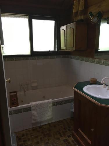 A bathroom at Hilltop