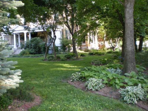 A garden outside Beall Mansion An Elegant Bed & Breakfast Inn