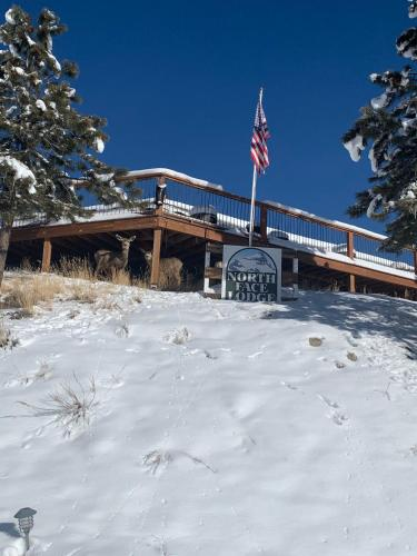 The North Face Lodge during the winter