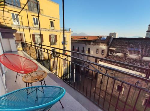 A balcony or terrace at Tric Trac Hostel