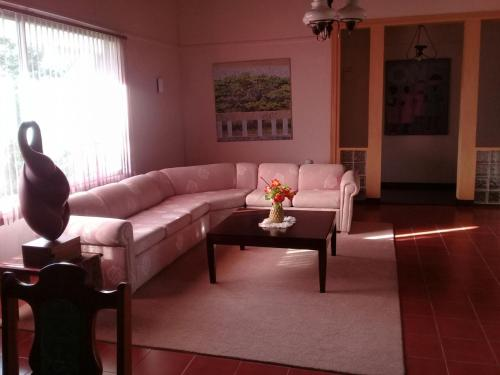 A seating area at Cartref Creative Cribs