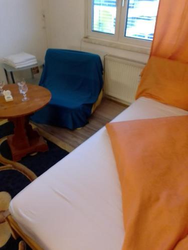 Ein Bett oder Betten in einem Zimmer der Unterkunft Kurze Pause mit dem Geruch von Holz