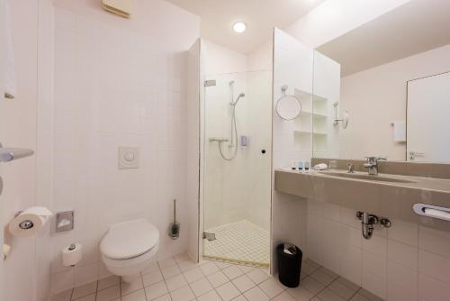 Ein Badezimmer in der Unterkunft Hotel Alte Werft