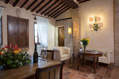 Area soggiorno di Camere Dentro Il Castello