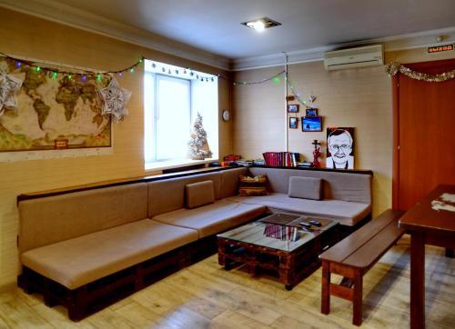 Гостиная зона в Hostel3952 - Irkutsk on Marata