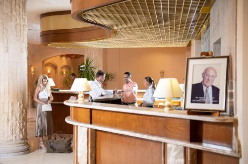 De lobby of receptie bij The Three Corners Fayrouz Plaza Beach Resort