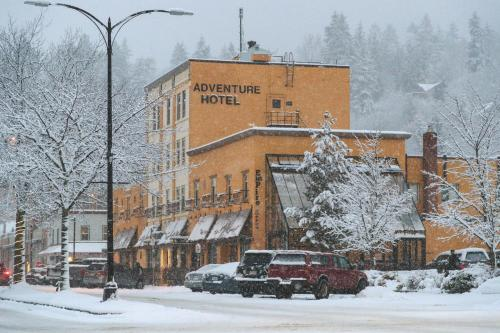 Adventure Hotel during the winter