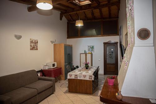 Casa Vacanze Etna tesisinde bir oturma alanı