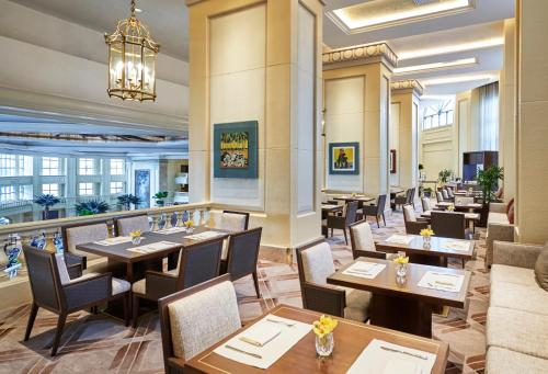 A restaurant or other place to eat at The Peninsula Manila (Staycation Approved)