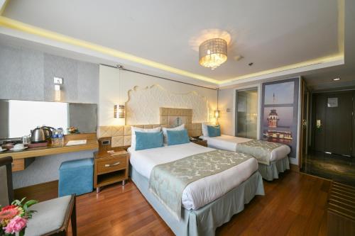 Cama o camas de una habitación en Grand Star Hotel Bosphorus & Spa
