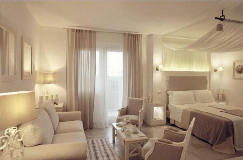 Area soggiorno di Le Nicchie Guest House