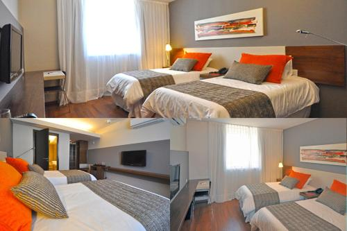 A bed or beds in a room at Amérian Tucuman Apart & Suites