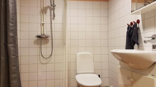 Ett badrum på Apartments Centralstation