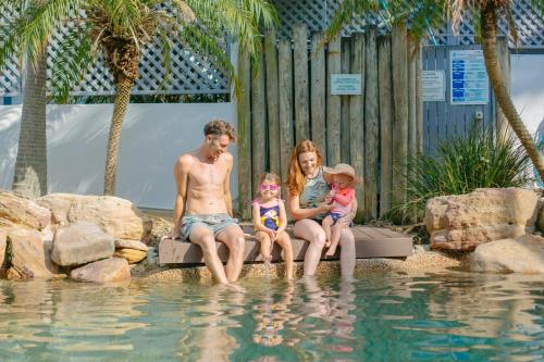 The swimming pool at or near The Bay Apartments Coolangatta
