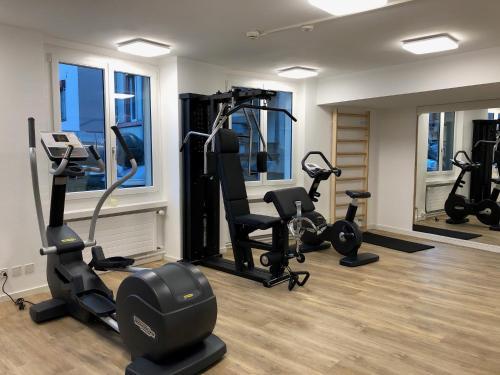 Gimnasio o instalaciones de fitness de Hotel City Inn Basel