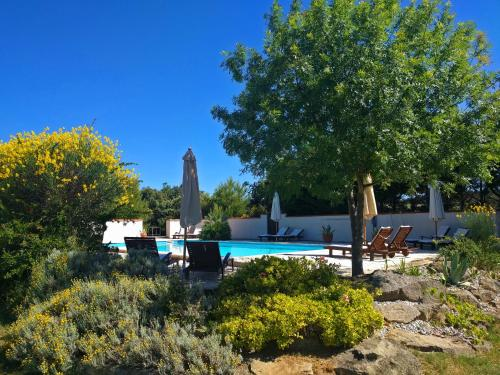 Der Swimmingpool an oder in der Nähe von Domaine De Palatz