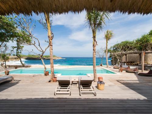 The swimming pool at or near Villa Voyage