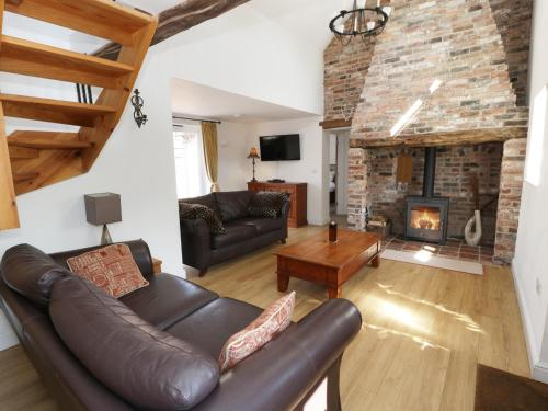 A seating area at Strine View Cottage