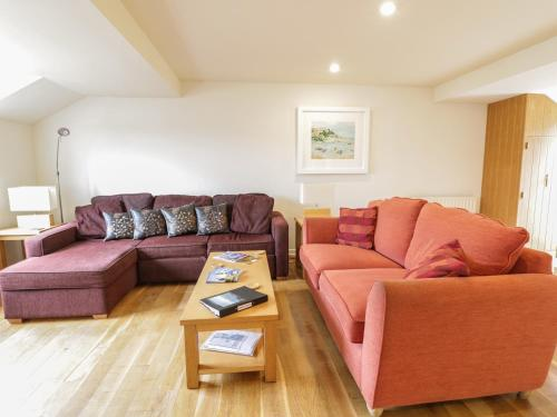 A seating area at Beachcombers, Newquay