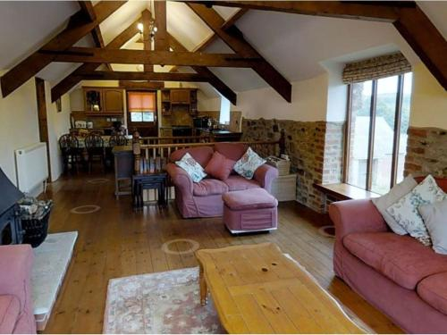 A seating area at The Cottage, Sampford Courtenay