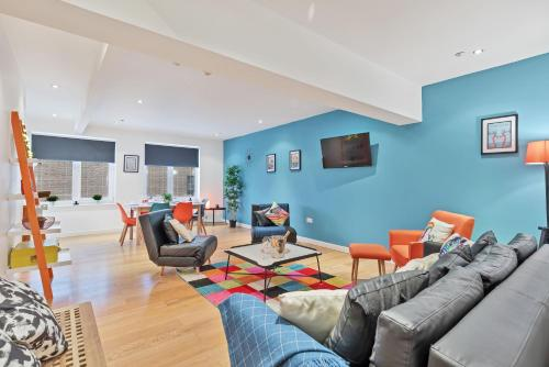 Chalk Cliff View - fantastic central Lewes apartment - panoramic cliff views - Fast Wifi