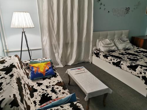 Cama ou camas em um quarto em Cozy apartment near big park
