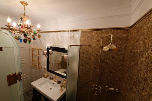 A bathroom at Hotel at the Rhythmic Gymnastics Center Irina Viner- Usmanova