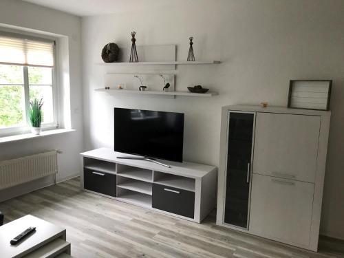 TV/Unterhaltungsangebot in der Unterkunft Apartmenthaus Eldena
