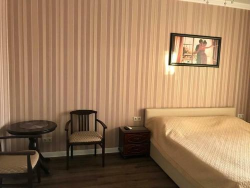 A seating area at Апартаменты-люкс на первой береговой линии Приморская 1