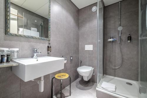 Salle de bains dans l'établissement Hotel Mon Repos