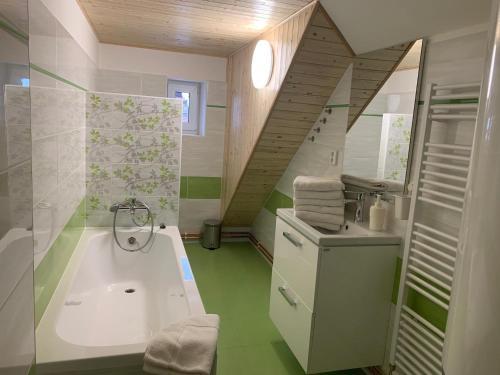 A bathroom at Apartmány Michaela