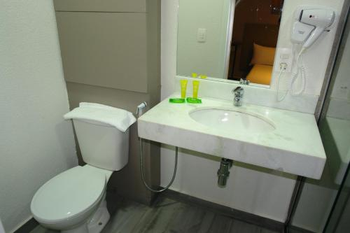 A bathroom at IBIS Styles Itauna