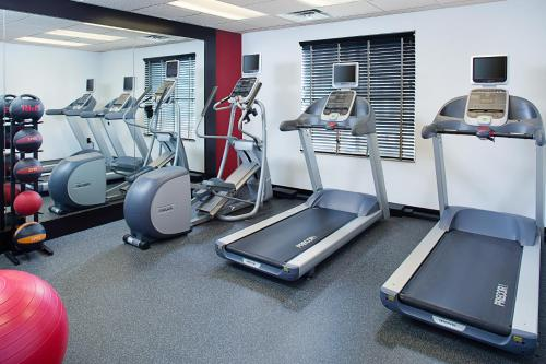 The fitness center and/or fitness facilities at Homewood Suites by Hilton Princeton