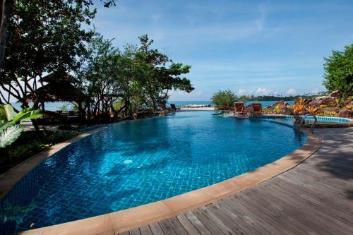 The swimming pool at or near Captain Hook Resort @Koh Kood
