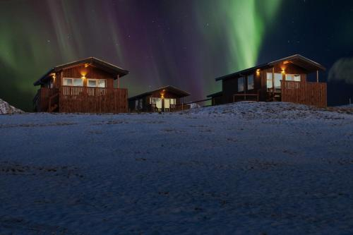 Aurora Cabins during the winter