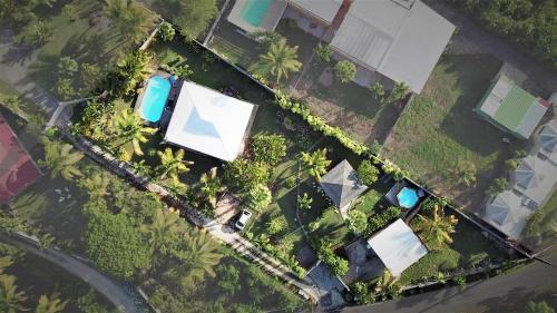 A bird's-eye view of Villa & Bungalow Fleur de Coco