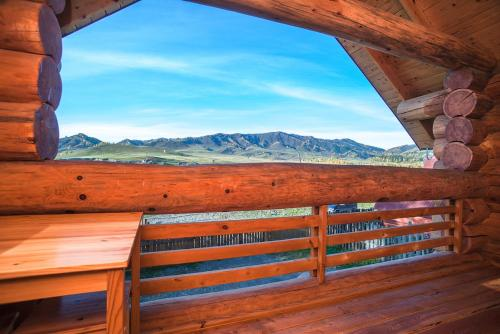 Общий вид на горы или вид на горы из гостевого дома