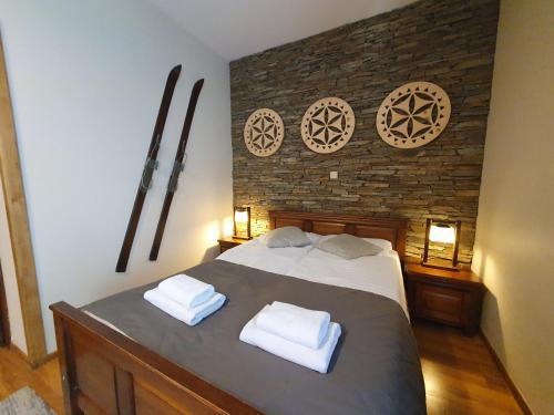 Łóżko lub łóżka w pokoju w obiekcie Willa Silene