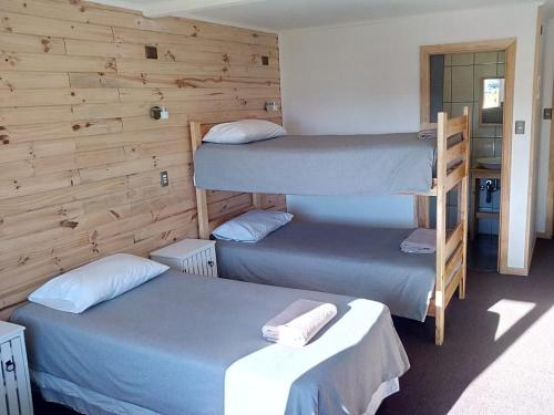 A bunk bed or bunk beds in a room at Pampa Lodge, Quincho & Caballos