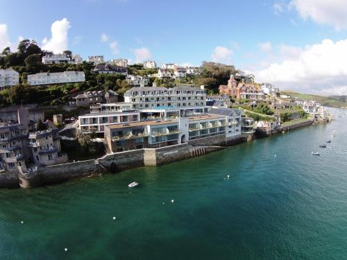 A bird's-eye view of Salcombe Harbour Hotel