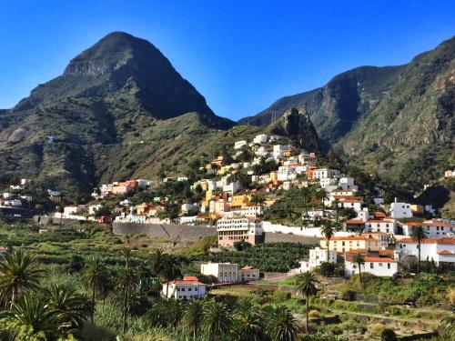 Ett flygfoto av Hotel Rural Villa de Hermigua