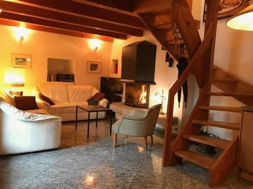 Ein Sitzbereich in der Unterkunft Tenuta Casa Cima