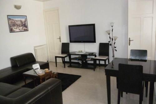 A television and/or entertainment center at ApartF32020