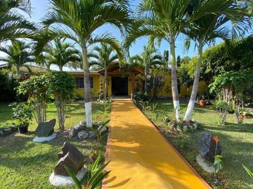 A garden outside Las Catalinas Coronado