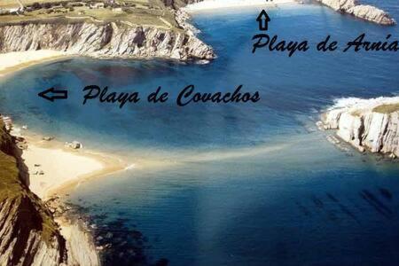 Casa-Chalet Playa de la Arnía a vista de pájaro