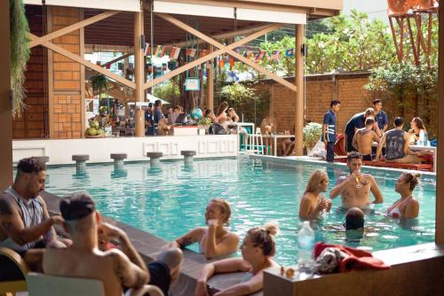 The swimming pool at or near Lub d Cambodia Siem Reap