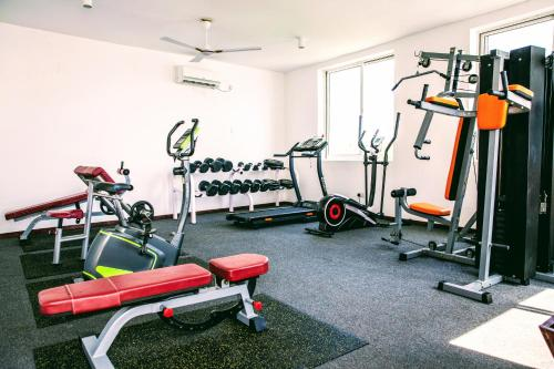 The fitness center and/or fitness facilities at Nungwi Dreams by Mantis